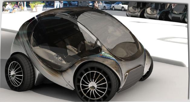 Un auto electrico